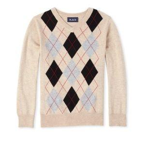 Boys Argyle Sweater